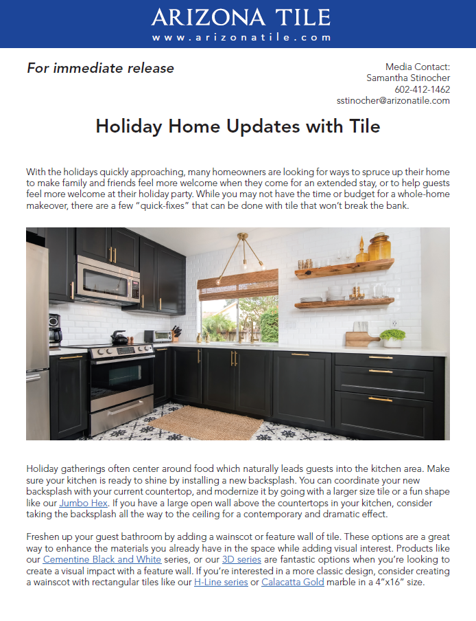 Arizona Tile Holiday Home Updates With Tile Ceramic Tile Distributors